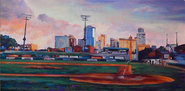 """Little Rock from Behind Home Plate"" (FULL VIEW)"